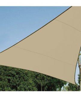 WATERDOORLATEND ZONNEZEIL – DRIEHOEK – 3.6x3.6x3.6m – KLEUR: CHAMPAGNE