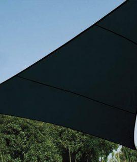 WATERDOORLATEND ZONNEZEIL – DRIEHOEK – 5x5x5m – KLEUR: ANTRACIET