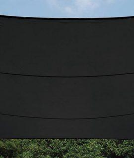 WATERDOORLATEND ZONNEZEIL – VIERKANT – 3.6x3.6m – KLEUR: ANTRACIET
